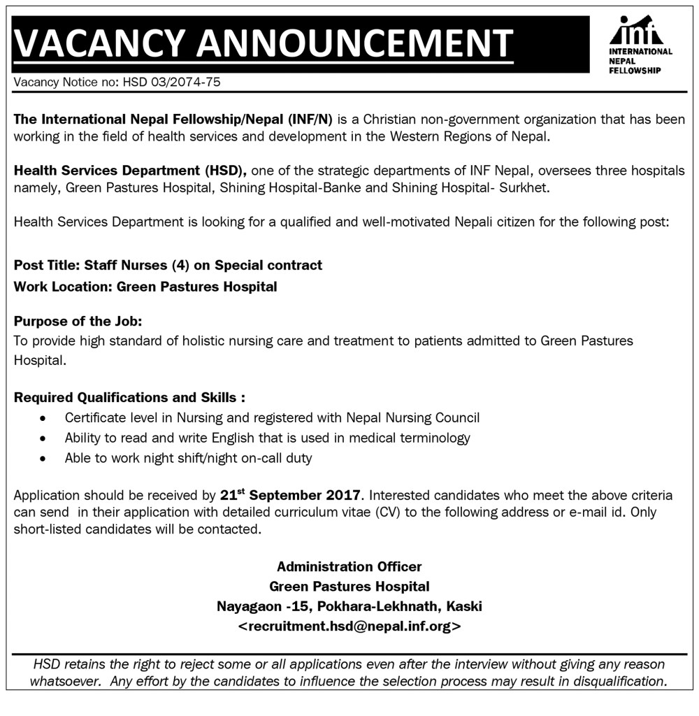 Vacancy for staff nurses on special contract 4 posts gp vacancy for staff nurses on special contract 4 posts 1betcityfo Choice Image