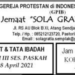 Warta Jemaat Minggu, 18 April 2021