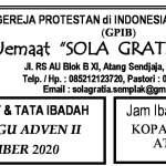 Warta Jemaat Minggu, 06 Desember 2020