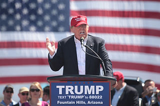 Donald Trump on the campaign trail.