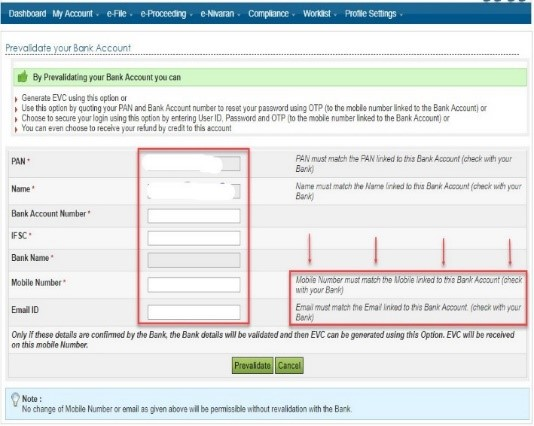 Link your PAN to your bank account to avail Income Tax