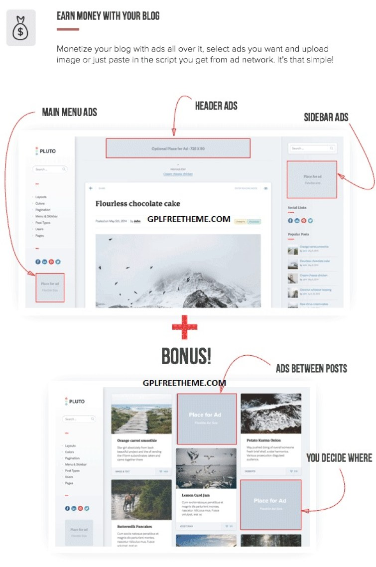 Pluto v4.3.2 Personal Masonry Blog Theme Free Download [Activated]
