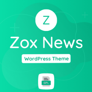 Zox news GPL Theme Download