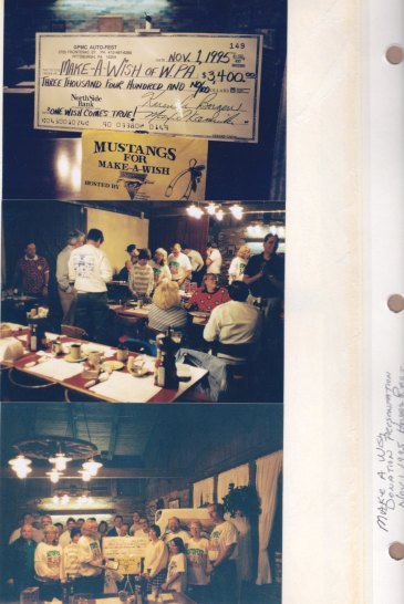Nov. 1, 1995: Make a Wish Donation Presentation; Hoss's Rest.