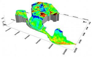 Une parcelle de l'exploitation de Jean Fumery cartographiée par l'outil de résistivité de Geocarta.