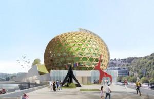 La cité musicale de l'île Seguin devrait ouvrir au public en juin 2016. Shigeru Ban et Jean de Gastines Architects