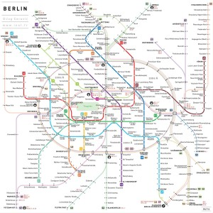 Plan du métro de Berlin par J. Cerovic