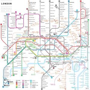 Plan du métro de Londres par J. Cerovic