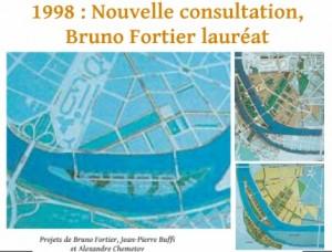 Les trois projets en lice dans la consultation de 1997