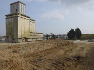 Chantier autour des anciens silos - Crédit : ABommart