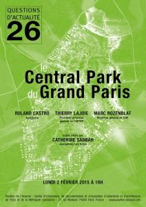 Affiche conférence Central Park du Grand Paris