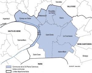 Carte Plaine Commune