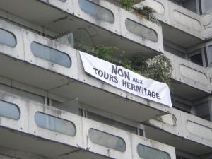 Banderole Immeuble Damiers