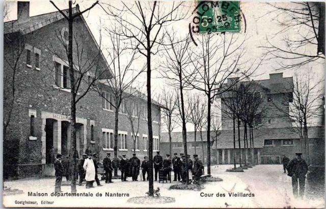 Nanterre Maison départementale Cour des vieillards