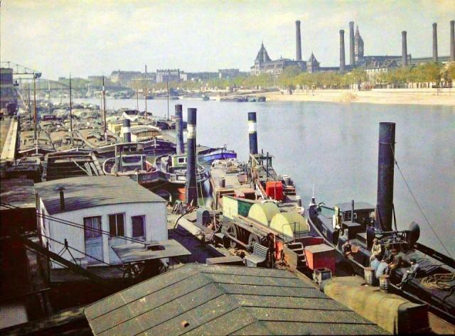 Port d'Austerlitz le 30 avril 1920  - photo-Auguste Leon Gimpel