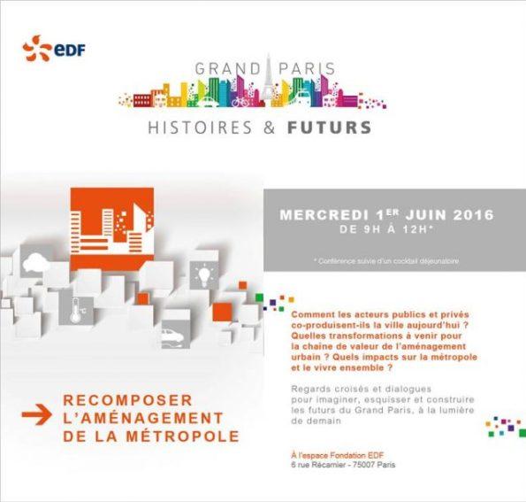 invitation EDF Recomposer l'aménagement de la métropole