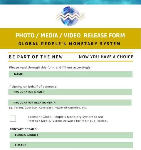 GPMS Media Release Form