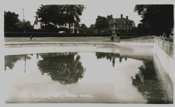 Paddling pool and clock