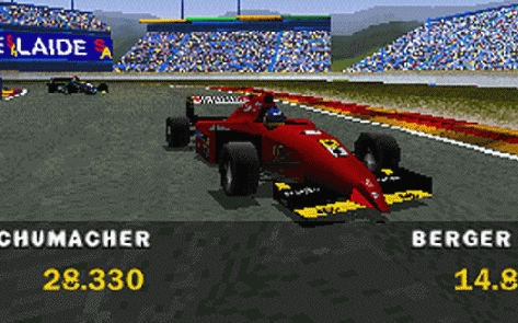 Some say the 1995 Ferrari is one of the best-looking F1 cars of all time. It comes up nicely in this game.