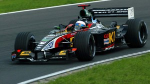 New Super Aguri driver Anthony Davidson in 2002, in one of two appearances for Minardi.