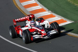 Sato at Melbourne in 2008. He would retire from the race with transmission problems.