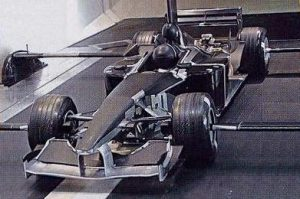 The aborted Prost AP05 wind tunnel model. Phoenix purchased the IP rights, but had no way of building the car.