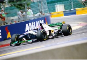 Lamy at Adelaide, 1995. This was where he claimed his first and only world championship point.