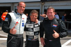 (L-R) Frits van Eerd, Jan Lammers and Jos Verstappen at the Italia a Zandvoort event.