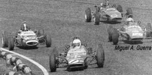 Guerra (far right) makes his Formula 4 début in 1971.