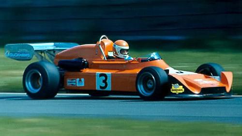 Brise pilots a Modus in the 1975 British Formula Atlantic championship.