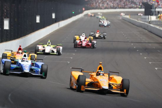 The only laps a McLaren would lead all year long. Photo: Bret Kelley / INDYCAR