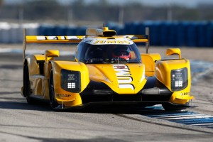 Jan Lammers tests his Dallara LMP2 at Sebring
