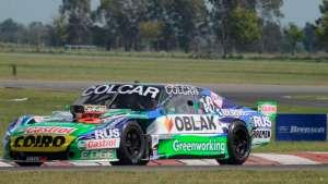 Gaston Mazzacane at the wheel of a Chevy (allegedly), at Olavarría Speedway (Tony Bosco)