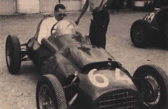 Bill Aston at Monza with a reshaped, redesigned NB41 chassis (Photo: 8w.forix.com)