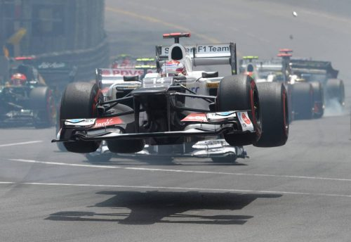 The Sauber C31 was a rocketship...quite literally in this instance! Monaco 2012