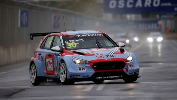 The absolute boy Tarquini. You;d probably get good odds on him still doing this in 2028. (Photo: WTCR)