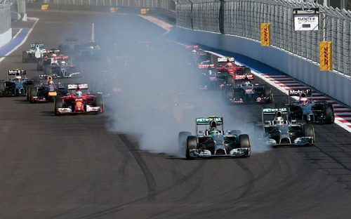 Smoke and mirrors won't make this track interesting, Nico. (Photo: AP/Telegraph)