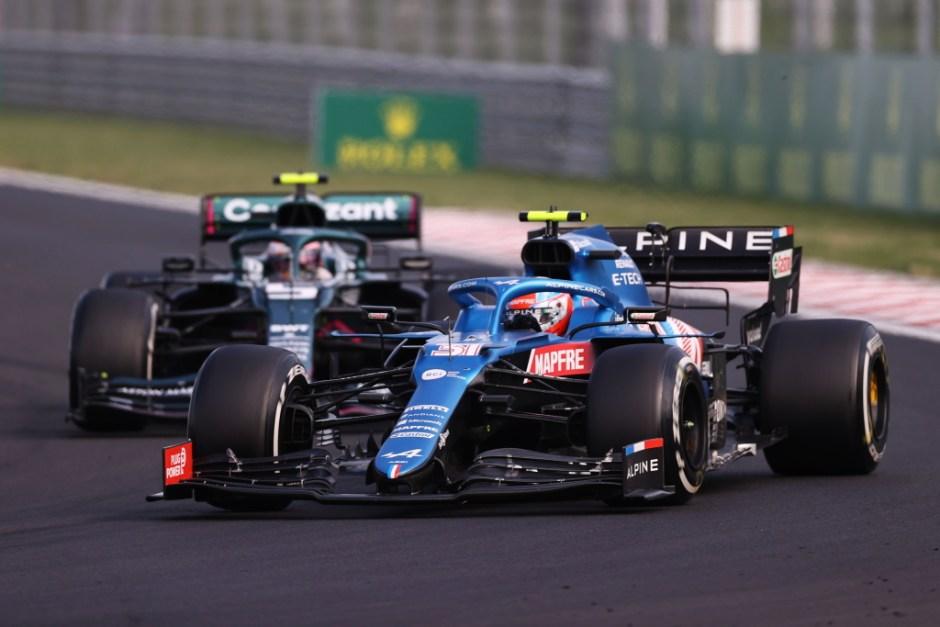 Esteban Ocon holded off Sebastian Vettel to take his first win in F1.