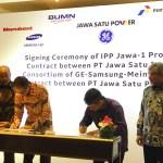 Kontrak  EPC  dan  Kesepakatan  Layanan  Pemeliharaan  Proyek PLTG Terbesar  di  Indonesia didapat Konsorsium  GE,  Samsung, Dan Meindo