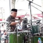 Menteri PUPR Basuki Gebuk Drum Saat Acara Halal Bihalal