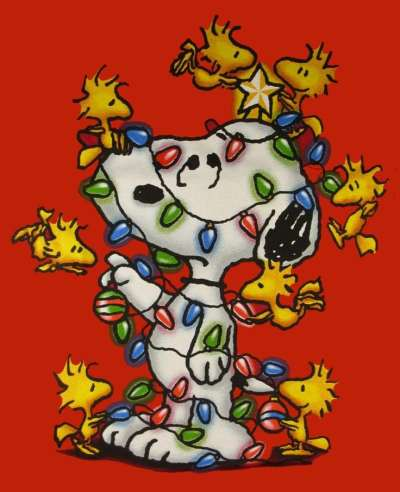 snoopy and woodstock christmas lights