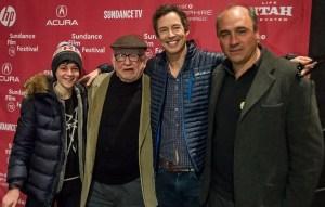 David Mazuouz, Ed Asner, Tom Cavanagh y Juan Pablo Buscarini.