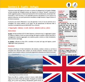Description trail Eupilio - Bellagio ENG