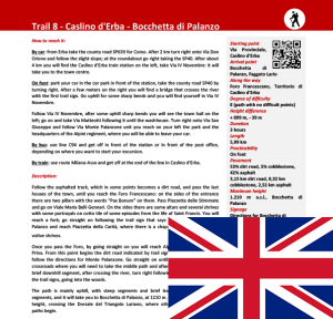 Description trail Caslino d'Erba -  Bocchetta di Palanzo ENG