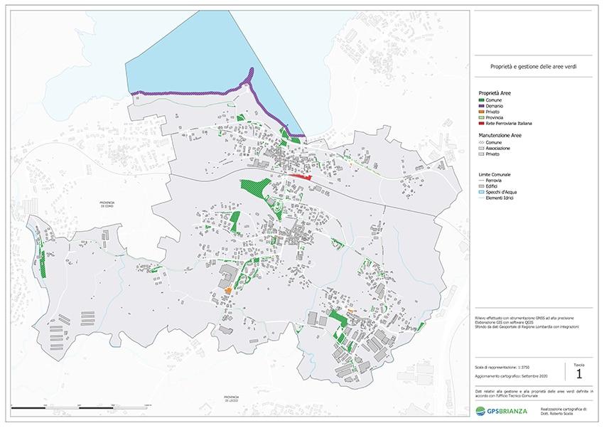 tavola censimento del verde urbano