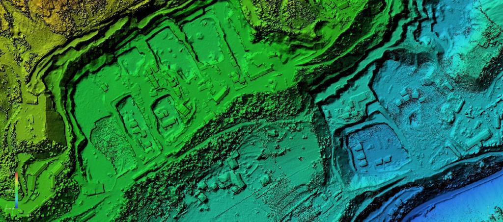 rilievo con drone elaborazione DEM GIS