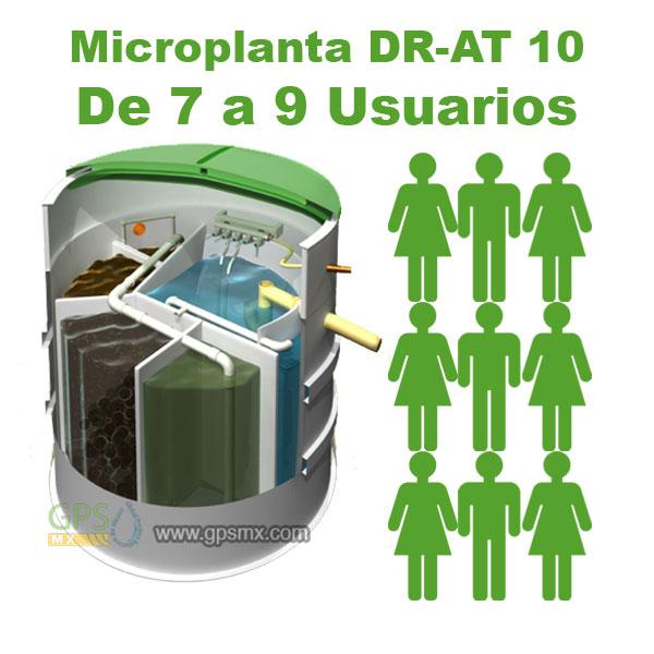 Planta de tratamiento de agua residual DR-AT Modelo 10 para 1.2 M3/día