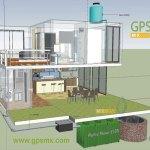 Dibujo de colocación de microplanta Gpsmx