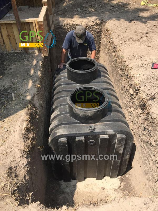 colocación de Microplanta de tratamiento de agua residual Gpsmx Modelo 1600 Reforzada K60 3 módulos