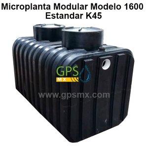 Microplanta de tratamiento de agua residual Gpsmx Modelo 1600 Estandar K45 2 módulos